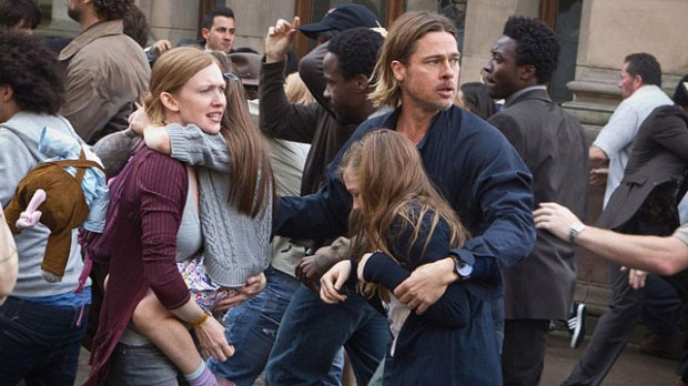 Brad Pitt Faces Zombie Pandemic In 'WWZ'